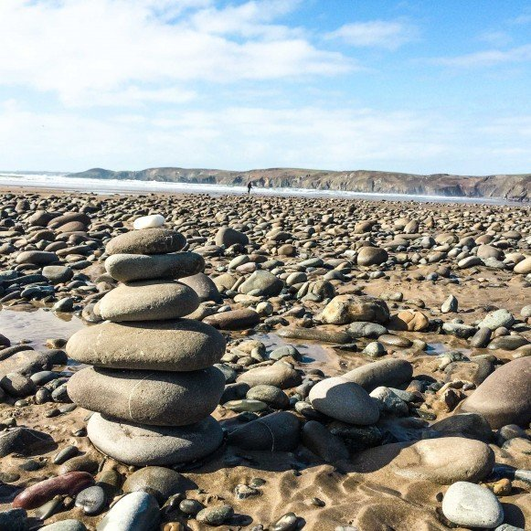 Stacked Stones in Newgale